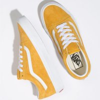 <img class='new_mark_img1' src='https://img.shop-pro.jp/img/new/icons24.gif' style='border:none;display:inline;margin:0px;padding:0px;width:auto;' />【VANS】OLD SKOOL PIG SUEDE MANGO MOJITO/TRUE WHITE オールドスクール バンズ