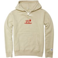 <img class='new_mark_img1' src='https://img.shop-pro.jp/img/new/icons49.gif' style='border:none;display:inline;margin:0px;padding:0px;width:auto;' />【TES】BUHI FLOCK HOODIE BEIGE スウェットパーカー The Endless Summer/エンドレスサマー
