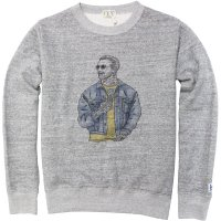 <img class='new_mark_img1' src='https://img.shop-pro.jp/img/new/icons50.gif' style='border:none;display:inline;margin:0px;padding:0px;width:auto;' />【TES】MALIBU STAR CREW NECK SWEAT MIX GREY クルーネックスウェット The Endless Summer/エンドレスサマー