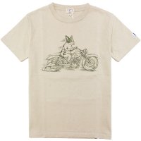 <img class='new_mark_img1' src='https://img.shop-pro.jp/img/new/icons14.gif' style='border:none;display:inline;margin:0px;padding:0px;width:auto;' />【TES/テス】50s BIKER BUHI TEE BEIGE Tシャツ The Endless Summer/エンドレスサマー