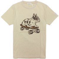 <img class='new_mark_img1' src='https://img.shop-pro.jp/img/new/icons14.gif' style='border:none;display:inline;margin:0px;padding:0px;width:auto;' />【TES/テス】TES LEOPARD SKATE BUHI TEE BEIGE Tシャツ The Endless Summer/エンドレスサマー