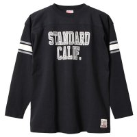 <img class='new_mark_img1' src='https://img.shop-pro.jp/img/new/icons24.gif' style='border:none;display:inline;margin:0px;padding:0px;width:auto;' />【STANDARD CALIFORNIA】SD HEAVYWEIGHT FOOTBALL LONG SLEEVE T BLACK ロンT スタンダードカリフォルニア