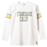 <img class='new_mark_img1' src='https://img.shop-pro.jp/img/new/icons14.gif' style='border:none;display:inline;margin:0px;padding:0px;width:auto;' />【STANDARD CALIFORNIA】SD HEAVYWEIGHT FOOTBALL LONG SLEEVE T WHITE ロンT スタンダードカリフォルニア
