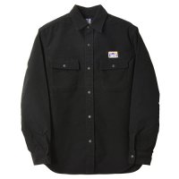 <img class='new_mark_img1' src='https://img.shop-pro.jp/img/new/icons14.gif' style='border:none;display:inline;margin:0px;padding:0px;width:auto;' />【STANDARD CALIFORNIA】SD STRETCH MOLESKIN CLASSIC FIELD SHIRT BLACK シャツ スタンダードカリフォルニア