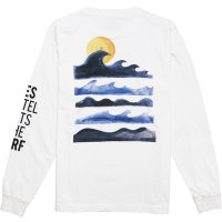 【TES/テス】TES MOTEL PUTS THE SURF UK WAVE LONG SLEEVE WHITE ロンT THE ENDLESS SUMMER/エンドレスサマー