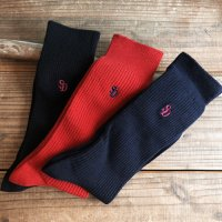 <img class='new_mark_img1' src='https://img.shop-pro.jp/img/new/icons14.gif' style='border:none;display:inline;margin:0px;padding:0px;width:auto;' />【STANDARD CALIFORNIA】SD RIB SOCKS-3P BLACK/NAVY/RED 3パックソックス 靴下 スタンダードカリフォルニア