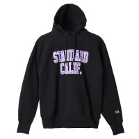 <img class='new_mark_img1' src='https://img.shop-pro.jp/img/new/icons50.gif' style='border:none;display:inline;margin:0px;padding:0px;width:auto;' />【STANDARD CALIFORNIA】CHAMPION × SD REVERSE WEAVE HOOD SWEAT BLACK パーカー チャンピオン スタンダードカリフォルニア