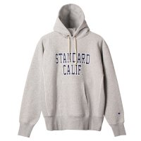 <img class='new_mark_img1' src='https://img.shop-pro.jp/img/new/icons50.gif' style='border:none;display:inline;margin:0px;padding:0px;width:auto;' />【STANDARD CALIFORNIA】CHAMPION × SD REVERSE WEAVE HOOD SWEAT GRAY パーカー チャンピオン スタンダードカリフォルニア