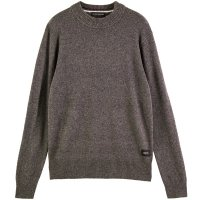 <img class='new_mark_img1' src='https://img.shop-pro.jp/img/new/icons24.gif' style='border:none;display:inline;margin:0px;padding:0px;width:auto;' />【SCOTCH&SODA/スコッチ&ソーダ】CLASSIC WOOL BLEND CREWNECK PULLOVER GRANITE MELANGE クルーネックニット
