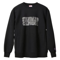 <img class='new_mark_img1' src='https://img.shop-pro.jp/img/new/icons14.gif' style='border:none;display:inline;margin:0px;padding:0px;width:auto;' />【STANDARD CALIFORNIA】SD R.W LOGO SWEAT BLACK クルーネックスウェット スタンダードカリフォルニア