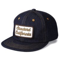 <img class='new_mark_img1' src='https://img.shop-pro.jp/img/new/icons50.gif' style='border:none;display:inline;margin:0px;padding:0px;width:auto;' />【STANDARD CALIFORNIA】SD LOGO PATCH DENIM CAP NAVY キャップ スタンダードカリフォルニア