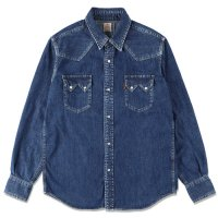 <img class='new_mark_img1' src='https://img.shop-pro.jp/img/new/icons50.gif' style='border:none;display:inline;margin:0px;padding:0px;width:auto;' />【STANDARD CALIFORNIA】SD DENIM WESTERN SHIRT NAVY ウエスタンデニムシャツ スタンダードカリフォルニア