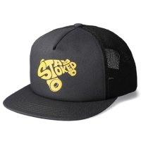 <img class='new_mark_img1' src='https://img.shop-pro.jp/img/new/icons50.gif' style='border:none;display:inline;margin:0px;padding:0px;width:auto;' />【STANDARD CALIFORNIA】SD STAY STOKED MESH CAP BLACK スナップバックキャップ スタンダードカリフォルニア
