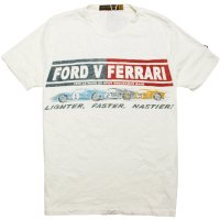 【JOHNSON MOTORS/ジョンソンモータース】FORD VS FERRARI DIRTY WHITE Tシャツ