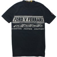 【JOHNSON MOTORS/ジョンソンモータース】FORD VS FERRARI VINTAGE BLACK Tシャツ