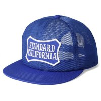 <img class='new_mark_img1' src='https://img.shop-pro.jp/img/new/icons50.gif' style='border:none;display:inline;margin:0px;padding:0px;width:auto;' />【STANDARD CALIFORNIA】SD SHIELD LOGO PATCH ALL MESH CAP BLUE メッシュキャップ スタンダードカリフォルニア