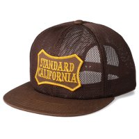 <img class='new_mark_img1' src='https://img.shop-pro.jp/img/new/icons50.gif' style='border:none;display:inline;margin:0px;padding:0px;width:auto;' />【STANDARD CALIFORNIA】SD SHIELD LOGO PATCH ALL MESH CAP BROWN メッシュキャップ スタンダードカリフォルニア