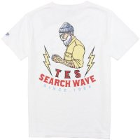 <img class='new_mark_img1' src='https://img.shop-pro.jp/img/new/icons14.gif' style='border:none;display:inline;margin:0px;padding:0px;width:auto;' />【TES/テス】TES HURRICANE SURFER TEE WHITE Tシャツ THE ENDLESS SUMMER/エンドレスサマー