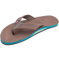 <img class='new_mark_img1' src='https://img.shop-pro.jp/img/new/icons14.gif' style='border:none;display:inline;margin:0px;padding:0px;width:auto;' />【RAINBOW SANDALS】SINGLE LAYER PREMIER LEATHER WITH BLUE MIDSOLE EXPRESSO レインボーサンダル