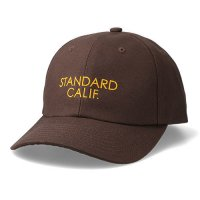 <img class='new_mark_img1' src='https://img.shop-pro.jp/img/new/icons14.gif' style='border:none;display:inline;margin:0px;padding:0px;width:auto;' />【STANDARD CALIFORNIA】SD LOGO CANVAS CAP BROWN キャンバスキャップ スタンダードカリフォルニア