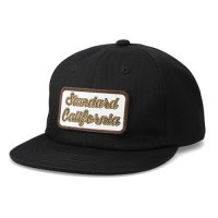 <img class='new_mark_img1' src='https://img.shop-pro.jp/img/new/icons14.gif' style='border:none;display:inline;margin:0px;padding:0px;width:auto;' />【STANDARD CALIFORNIA】SD LOGO PATCH PIQUE CAP BLACK ピケキャップ スタンダードカリフォルニア