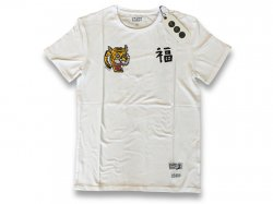 FD Bamboo Straight Tiger Tee WHITE<img class='new_mark_img2' src='https://img.shop-pro.jp/img/new/icons47.gif' style='border:none;display:inline;margin:0px;padding:0px;width:auto;' />
