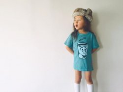 SHIPS KIDS × Cloveru Japan made Tee 【ROLLINS COFFEE】