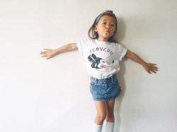 SHIPS KIDS × Cloveru Japan made Tee 【RAT】