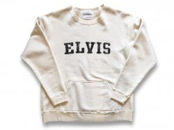 【ELVIS & CHUCK】 JAPAN MADE CREW SWEAT - NATURAL IVORY<img class='new_mark_img2' src='//img.shop-pro.jp/img/new/icons5.gif' style='border:none;display:inline;margin:0px;padding:0px;width:auto;' />