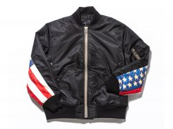 FLAG MA-1 JACKET - BLACK<img class='new_mark_img2' src='//img.shop-pro.jp/img/new/icons5.gif' style='border:none;display:inline;margin:0px;padding:0px;width:auto;' />