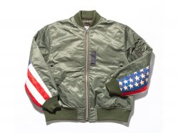 FLAG MA-1 JACKET - OLIVE<img class='new_mark_img2' src='//img.shop-pro.jp/img/new/icons47.gif' style='border:none;display:inline;margin:0px;padding:0px;width:auto;' />