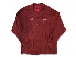 Rayon Flamingos LS Shirts. - WINE