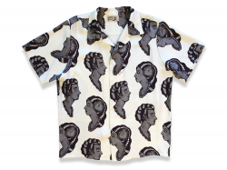 RAYON ART SHIRT - Black Brown<img class='new_mark_img2' src='//img.shop-pro.jp/img/new/icons5.gif' style='border:none;display:inline;margin:0px;padding:0px;width:auto;' />