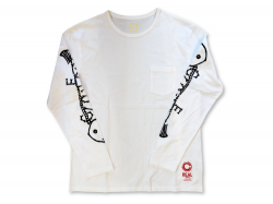 FISH BONE LS - Washed White