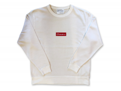 BOX LOGO  CREW - Natural
