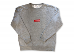 BOX LOGO  CREW - Washed Gray