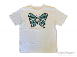 Skull Butterfly (Papillon) Tee - Washed White<img class='new_mark_img2' src='https://img.shop-pro.jp/img/new/icons5.gif' style='border:none;display:inline;margin:0px;padding:0px;width:auto;' />