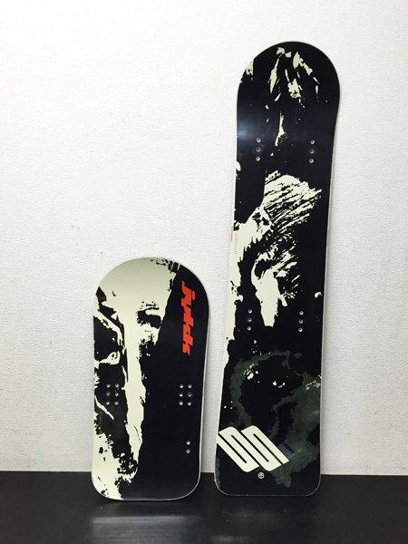【整備済み中古】スノースクート SNOWSCOOT  ボードセット TYPE-G1 ブラック スーパーソフトフレックス