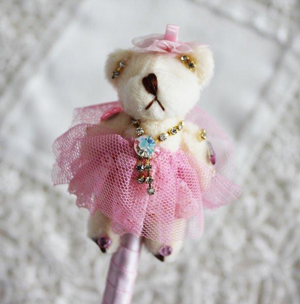 ドレスベアボールペン ピンク