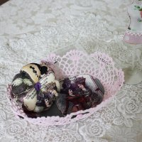 <img class='new_mark_img1' src='//img.shop-pro.jp/img/new/icons11.gif' style='border:none;display:inline;margin:0px;padding:0px;width:auto;' />お花の形のピンクッション&ピンクレースのバスケットセット   貴婦人