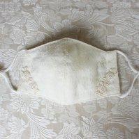 エレガントレース ダブルガーゼ立体型マスク オフホワイト