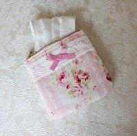 マスクポーチ ピンクの薔薇
