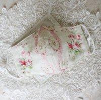 レーシーな薔薇柄の織地 ダブルガーゼマスク