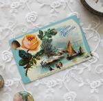 アンティークポストカード薔薇