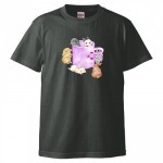 <img class='new_mark_img1' src='//img.shop-pro.jp/img/new/icons5.gif' style='border:none;display:inline;margin:0px;padding:0px;width:auto;' />コラボTシャツ【カラーリボンボンバージョン】スミ