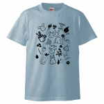 <img class='new_mark_img1' src='//img.shop-pro.jp/img/new/icons5.gif' style='border:none;display:inline;margin:0px;padding:0px;width:auto;' />コラボTシャツ【Leichalバージョン2】ライトブルー