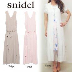 snidel(スナイデル)<br>ノースリニットロングベスト  16春夏.【SWNT162040】 ベスト