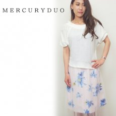 MERCURYDUO(マーキュリーデュオ)<br>ドライタッチオフショルカットソー  16春夏.【1620600101】 カットソー