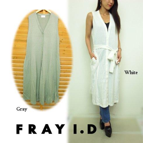 FRAY I.D(フレイアイディー)<br>フレアーロングジレ  16春夏.【FWNT162253】 ベスト sale
