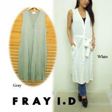 FRAY I.D(フレイアイディー)<br>フレアーロングジレ  16春夏.【FWNT162253】 ベスト